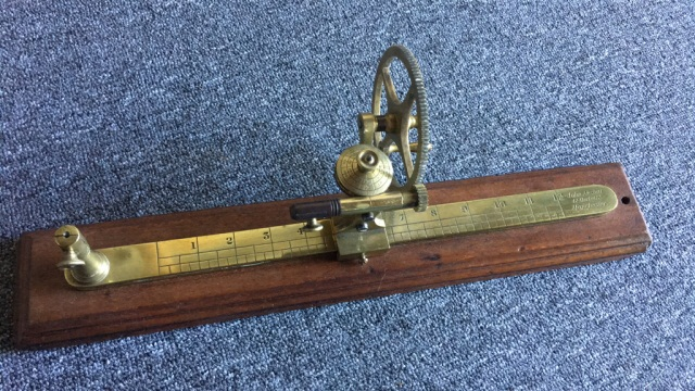 Antique Brass Tensile Strength Testing Device