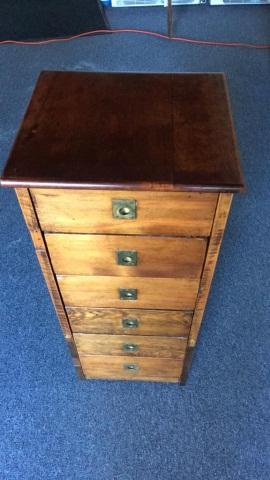 Vintage Mahogany 6 Drawer Cabinet