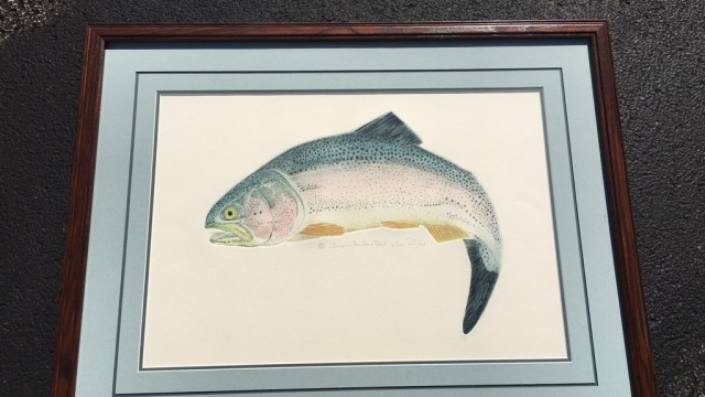 Larry Crawford orig. Ltd. edition fish Lithograph
