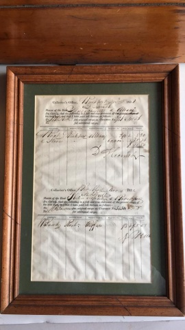 Antique Ship's Bill of Lading