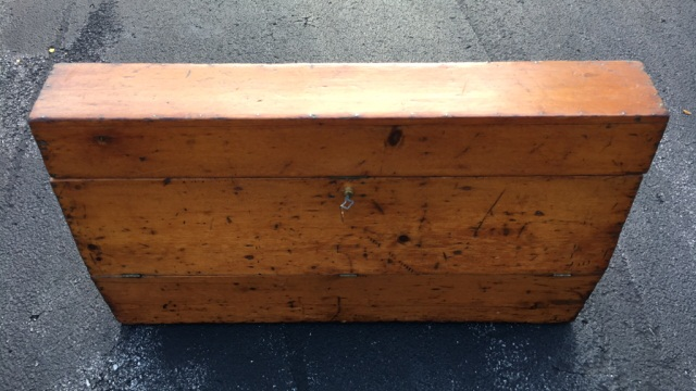 Antique Wooden Carpenter's Toolbox