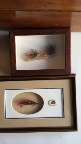 Trout Flies Mounted in This Pair of Shadowboxes