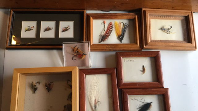 Lot of 8 Trout Flies mounted in Frames/Shadowboxes