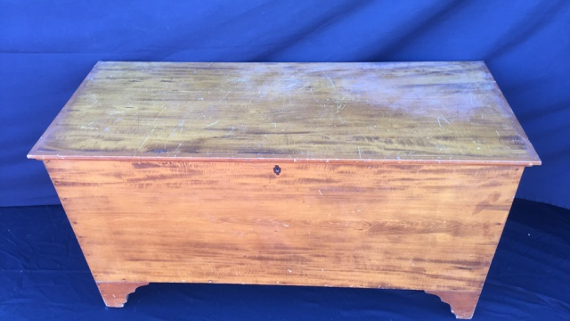 Antique 6 Board Blanket Box Circa 1840