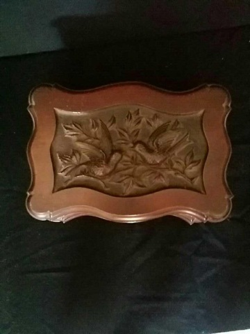 Antique Carved Rococo Style Walnut Box