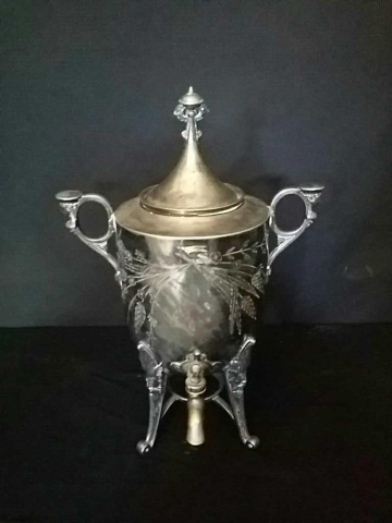 Antique Reed & Barton Silver Plated Coffee Urn