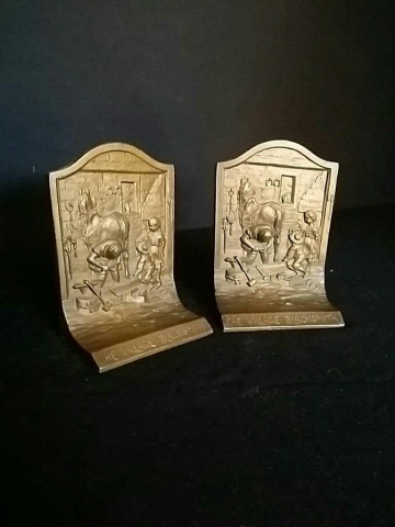 Pair Of Antique Iron Book Ends