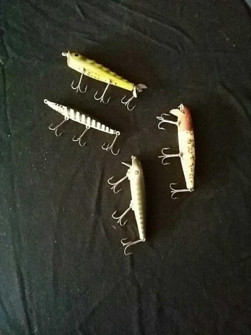 4 Antique Fishing lures
