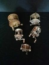 Antique Fishing Reels Various Makes & Models