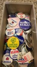 100+ Political Pins - 1980s-1990s