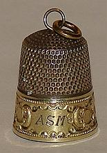 Sterling & Vermeil Antique Thimble -Simons Bros.