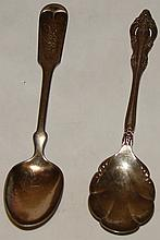 2 Silver Plated Spoons -