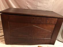 Antique Primitive Hand Carved Large Blanket Chest