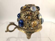 Antique Victorian Jeweled Ormolu Fairy Lamp
