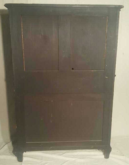 Antique Carved Asian Double Door Cabinet