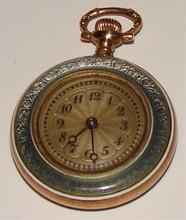 Antique Pocket Watch -14K Gold & Enamel Case
