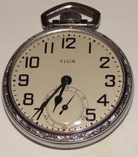 Elgin Antique Pocket Watch - Size 14 - Open Face