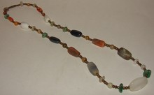 Vintage / Antique Agate Stone Necklace - 24 Inch