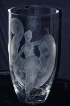 ERTE Title: DREAM GIRL GLASS ETCHING EDITION OF 99