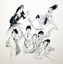 AL  HIRSCHFELD Title: SENSATIONS LIMITED EDITION LITHOGRAPH