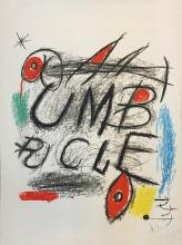 JOAN MIRO Title: UMBRACLE LITHOGRAPH