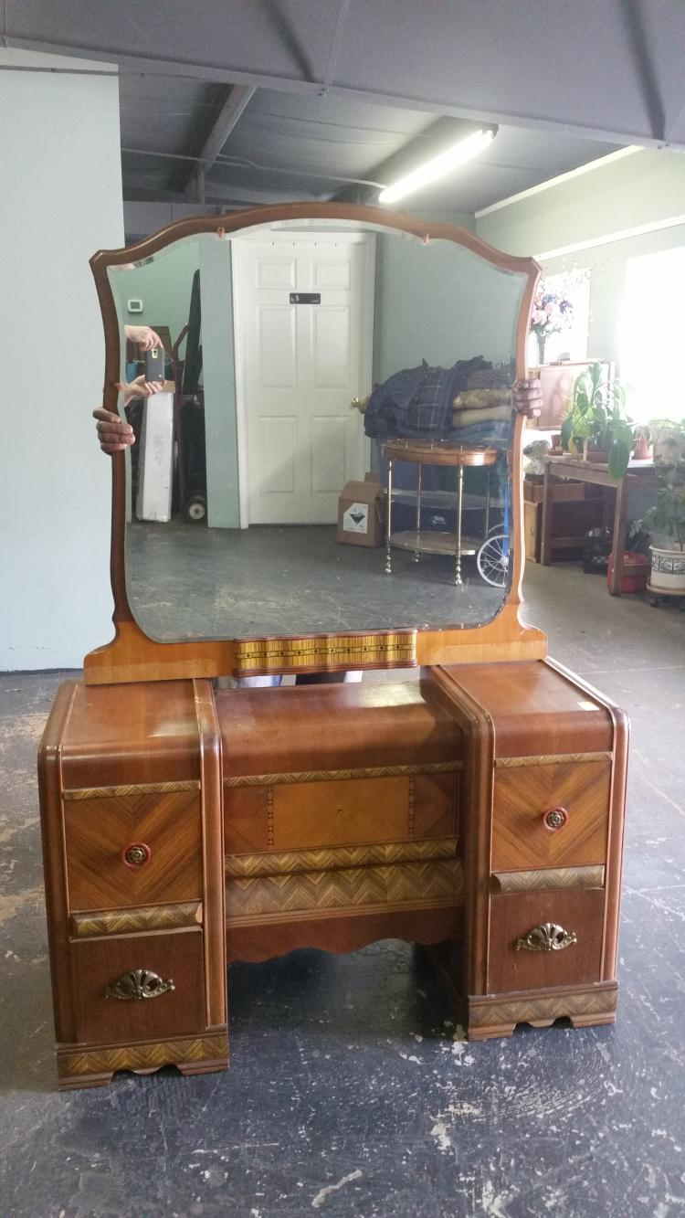 Antique waterfall dresser