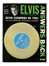 1956 <em>Elvis Answers Back!</em> Fan Magazine with Playable 78 RPM Record on the Cover