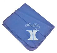 Elvis Presley Souvenir Light Blue Scarf with Hilton Logo from the Collection of Bandleader Al Dvorin