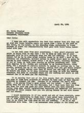 File Copy of Scathing Letter from Colonel Tom Parker to Elvis Presley and His Entourage