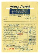 Elvis Presley's Receipts from Harry Levitch Jewelers from April and May 1967