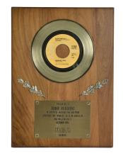 1972 RCA In-House Gold Record Award for Elvis Presley's Single
