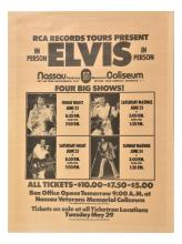 1973 Elvis Presley's New York Engagements Poster