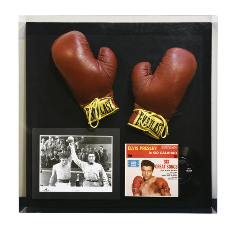 1962 Elvis Presley Film-Worn Boxing Gloves from <em>Kid Galahad</em> - Emanating from a Member of the Mirisch Family*