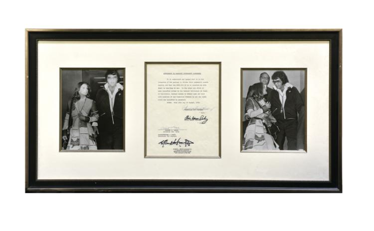 Elvis Presley and Priscilla Presley Signed Divorce Document*