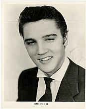 1955 Elvis Presley Signed Promotional Photo - Signed on the Front