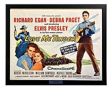 1956 <em>Love Me Tender</em> Half Sheet Movie Poster - Elvis Presley's Film Debut!