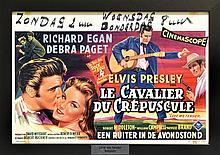 1956 <em>Love Me Tender</em> Belgian Movie Poster - Beautifully Framed - Starring Elvis Presley