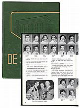1955 <em>DeSoto</em> Memphis State Yearbook Featuring Elvis Presley, Tony Curtis, George Klein and Wink Martindale