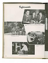 1957 <em>DeSoto</em> Memphis State Yearbook Featuring Elvis Presley, George Klein and Wink Martindale
