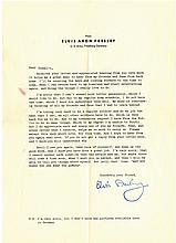 Elvis Presley U.S. Army Fan Response Letter, Original Envelope, <em>Elvis in the Army</em> Magazine, Christmas Card and <em>King Creole</em> Card