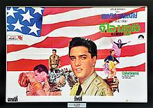 1960 <em>G. I. Blues</em> Thai Movie Poster - Beautifully Framed - Starring Elvis Presley