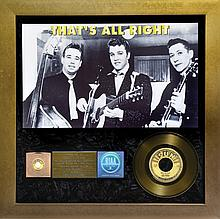 Scotty Moore's Gold Record Award for 1954 Sun Record