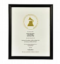 Scotty Moore's Grammy Hall of Fame Awards for