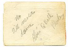 Elvis Presley Signed and Inscribed Snapshot of Mrs. Scotty Moore (Bobbie Walls Moore) -