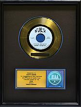 Scotty Moore's Stax Records Gold Record Award for Booker T. & the M.G.s'