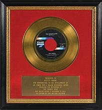 Scotty Moore's Sound Stage 7 Records Gold Record Award for Joe Simon's