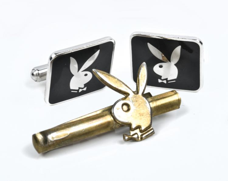 1976 Playboy Tie Bar and Cufflinks from Elvis Presley's Personal Collection