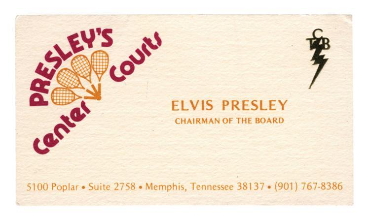 1976 Elvis Presley's Personal