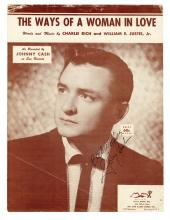 1958 Johnny Cash Signed Sheet Music for