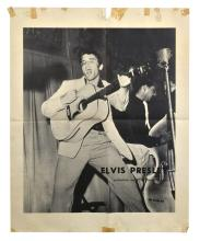 Extremely Rare 1956 Elvis Presley RCA Victor Records Poster - with Image from His First RCA LP <em>Elvis Presley</em>